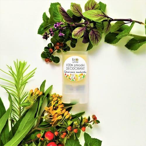 100% přírodní deodorant Citronová meduňka (malý) Biorythme