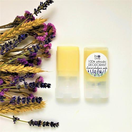 100% přírodní deodorant Levandulové pole (malý) Biorythme