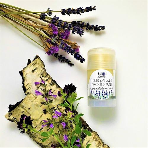 100% přírodní deodorant Levandulové pole (velký) Biorythme