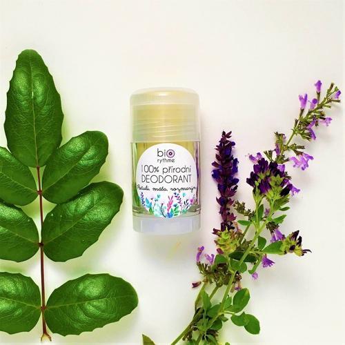 100% přírodní deodorant Pačuli, máta, rozmarýn (velký) Biorythme