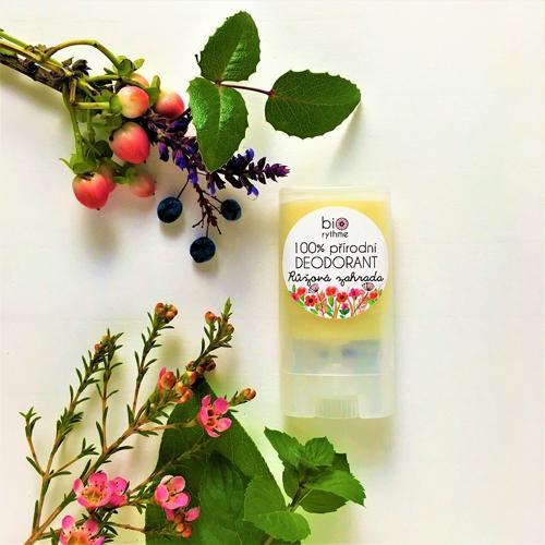 100% přírodní deodorant Růžová zahrada (malý) Biorythme