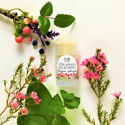 100% přírodní deodorant Růžová zahrada (velký) Biorythme