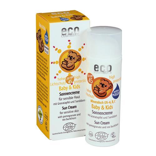 Baby Dětský opalovací krém SPF 45 BIO Eco Cosmetics