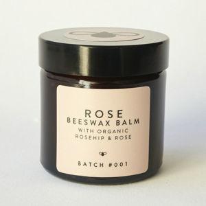 BATCH #001 BATCH #001 Organický balzám z včelího vosku s růží 60 ml s bambusovým ručníkem