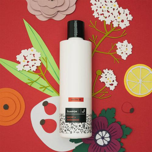 CALTHA Tekutý šampon na suché a poškozené vlasy Bezový květ a Šípek CALTHA
