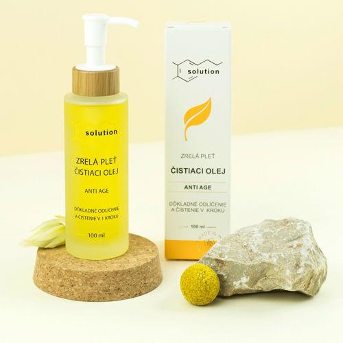 Čistící a odličovací olej Solution - ANTI AGE Navia/Kvitok
