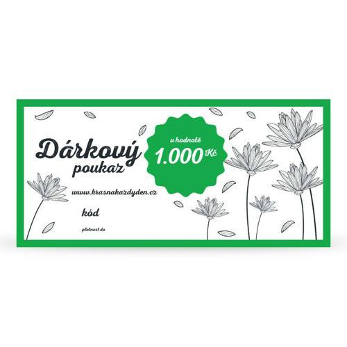 Dárkový poukaz 1 000 Kč Krásná Každý Den