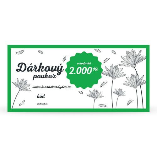 Dárkový poukaz 2 000 Kč Krásná Každý Den