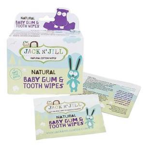 Jack N' Jill  Dětské vlhčené ubrousky na zuby a dásně