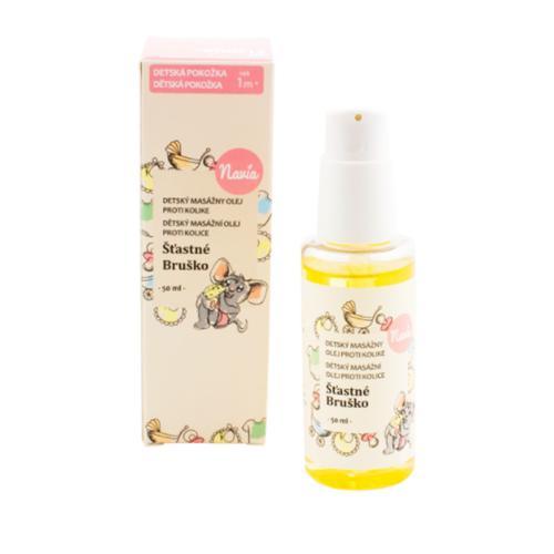Dětský masážní olej Šťastné Bříško Navia