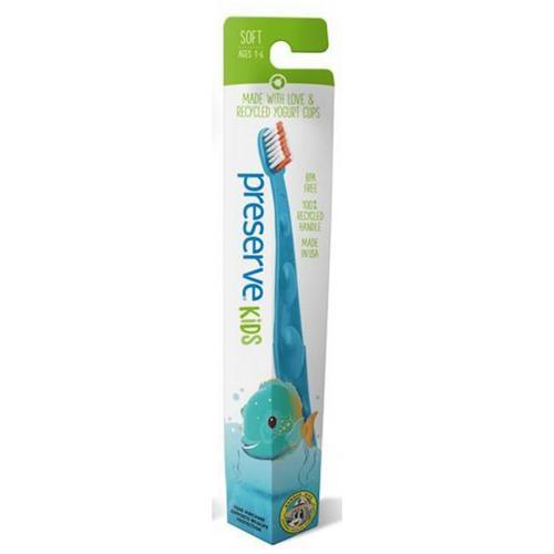Dětský zubní kartáček Soft - azurový Preserve
