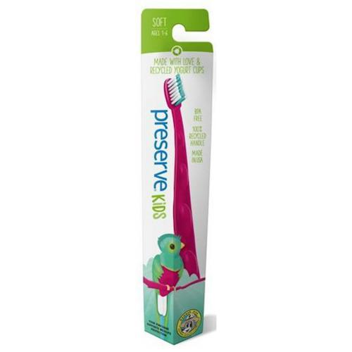 Dětský zubní kartáček Soft - růžový Preserve