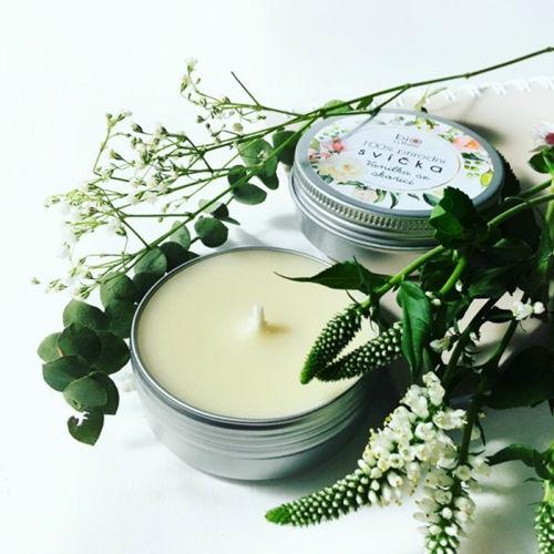 Extravagantně přírodní svíčka - Vanilka se skořicí Biorythme