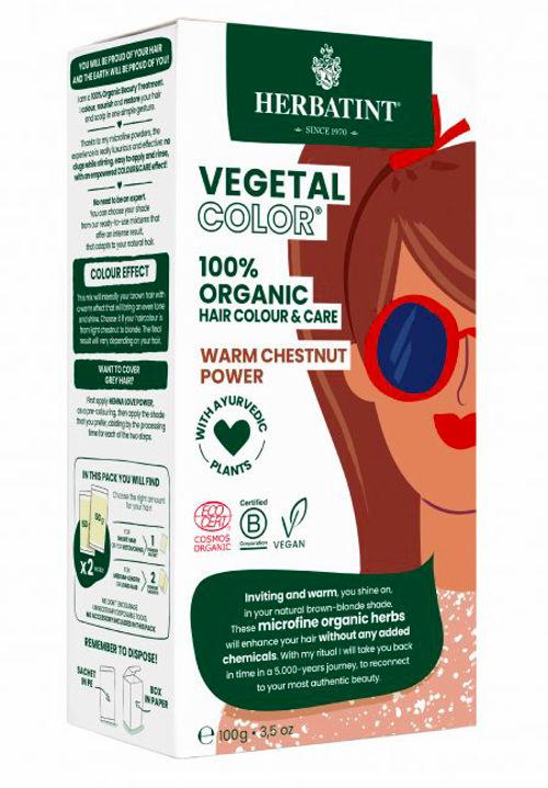 HERBATINT bio rostlinná barva na vlasy warm chestnut power Herbatint