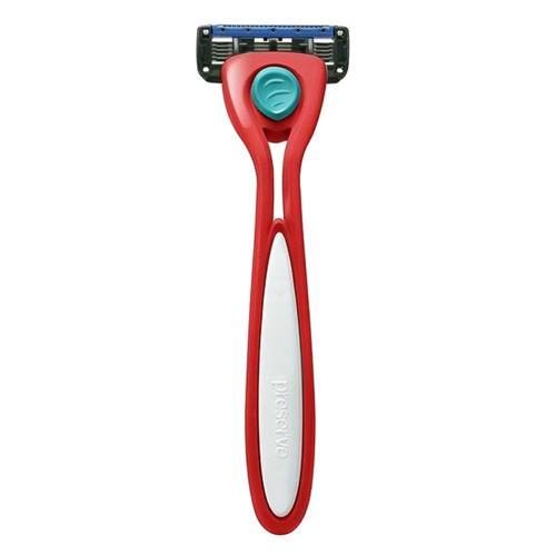 Holící strojek Shave 5 - brusinkově červený Preserve