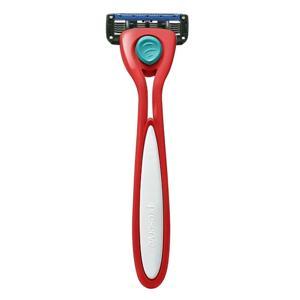 Preserve Holící strojek Shave 5 - brusinkově červený