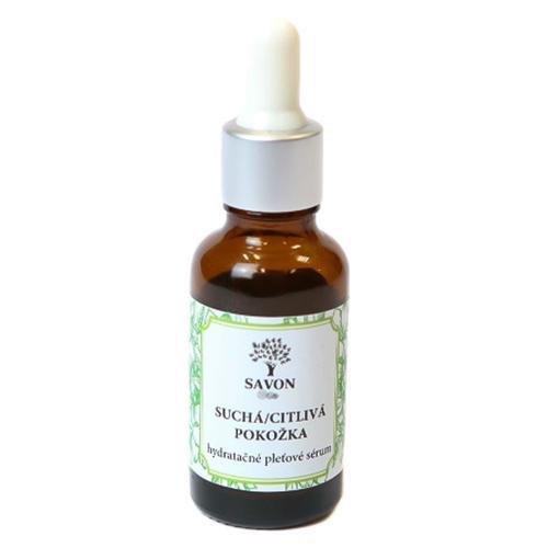 Hydratační pleťové sérum pro suchou a citlivou pokožku 10 ml Savon