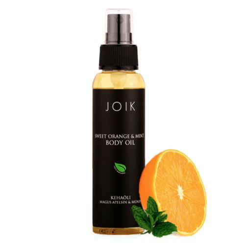 Hydratační tělový olej s pomerančem a mátou Joik