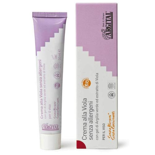 Hypoalergenní krém na obličej s violkou Argital