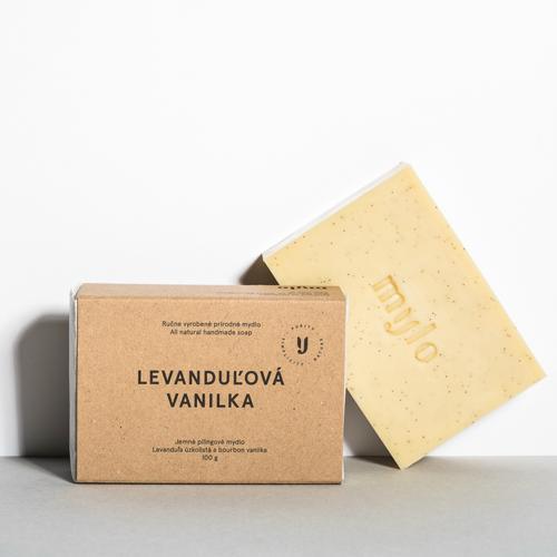 Jemné peelingové mýdlo s vanilkou a levandulí Mylo