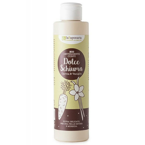 Jemný čisticí sprchový gel s mrkví a vanilkou BIO laSaponaria