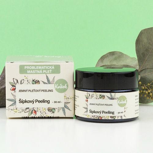 Jemný šípkový peeling pro mastnou/problematickou pleť Kvitok