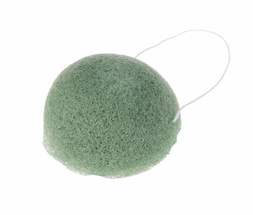 Konjaková houbička zelená se zeleným čajem Anela