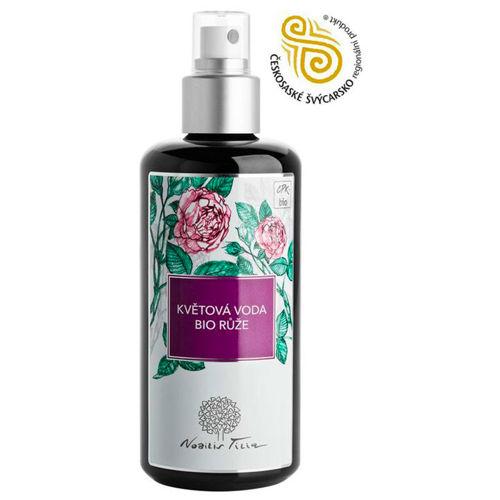 Květová voda BIO Růže sklo 200 ml Nobilis Tilia