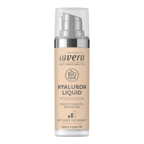 LAVERA lehký tekutý make-up s kyselinou hyaluronovou 01 porcelánová Lavera