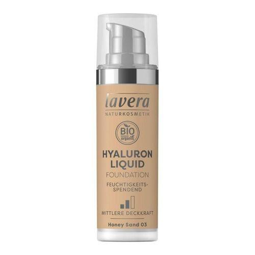 LAVERA lehký tekutý make-up s kyselinou hyaluronovou 03 medová Lavera