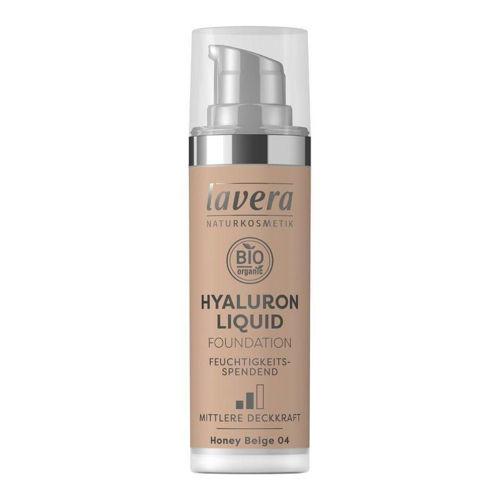 LAVERA lehký tekutý make-up s kyselinou hyaluronovou 04 béžová Lavera