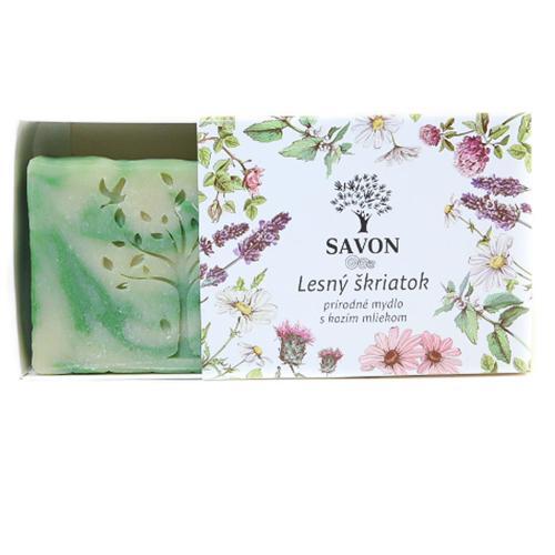 Lesní skřítek - přírodní mýdlo s kozím mlékem Savon