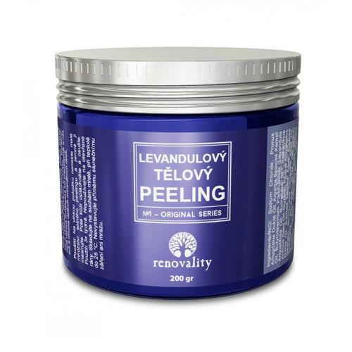 Levandulový tělový peeling Renovality