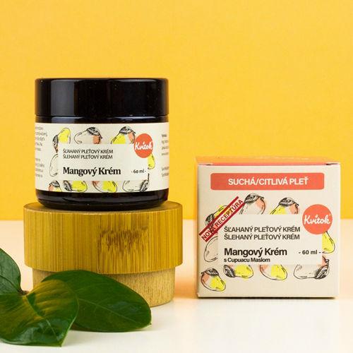 Mangový krém pro suchou a citlivou pleť Kvitok