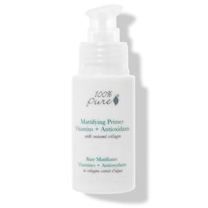 100% Pure Matující báze pod make-up s vitamíny, antioxidanty a kolagenem z mořských řas