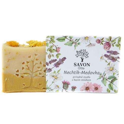 Měsíček Meduňka - přírodní mýdlo s kozím mlékem Savon