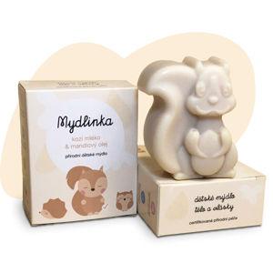 Mydlinka MYDLINKA Ručně vyráběné dětské mýdlo veverka s kozím mlékem