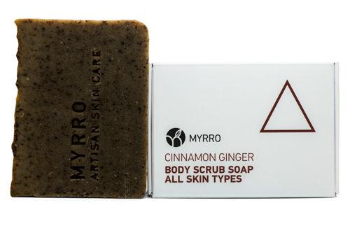 MYRRO Tělové mýdlo peelingové Cinnamom Ginger MYRRO