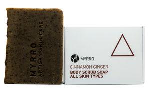MYRRO MYRRO Tělové mýdlo peelingové Cinnamom Ginger