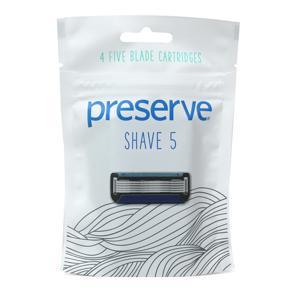 Preserve Náhradní břity Shave 5 (4 ks)