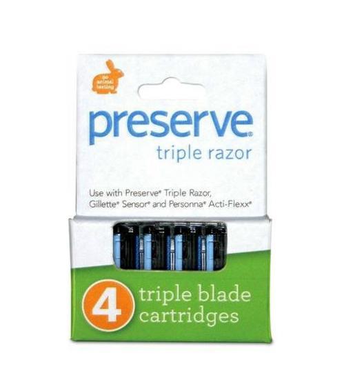 Náhradní břity Triple (4 ks) Preserve