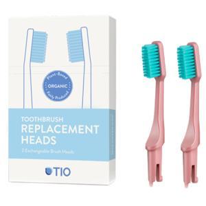 TIO Náhradní hlavice k zubnímu kartáčku Medium (2ks) - korálově růžová