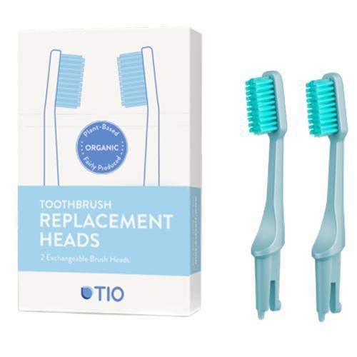 Náhradní hlavice k zubnímu kartáčku Medium (2ks) - ledovcově modrá TIO