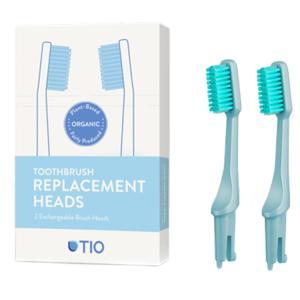 TIO Náhradní hlavice k zubnímu kartáčku Medium (2ks) - ledovcově modrá