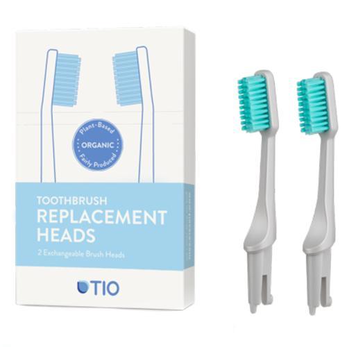 Náhradní hlavice k zubnímu kartáčku Medium (2ks) - oblázkově šedá TIO