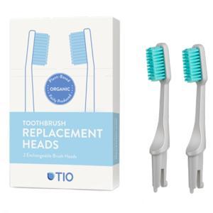 TIO Náhradní hlavice k zubnímu kartáčku Medium (2ks) - oblázkově šedá