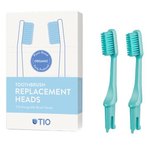 Náhradní hlavice k zubnímu kartáčku Medium (2ks) - tyrkysově zelená TIO