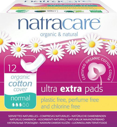 NATRACARE menstruační vložky ultra extra regular s křidélky NATRACARE