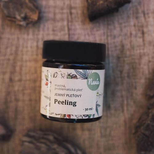 Jemný pleťový peeling pro mastnou/problematickou pleť Navia