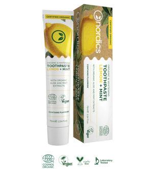 Nordics Bio bělicí zubní pasta s citronem a mátou